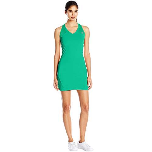ASICS MotionDry - Vestido de tenis para mujer, color verde -...