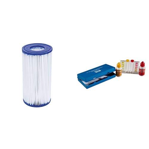 Bestway 58012 Filtro para Depuradora (III) 5.678 litros/Hora, Blanco + Quimicamp 209080 - Kit Analisis Oto Y Ph 209080