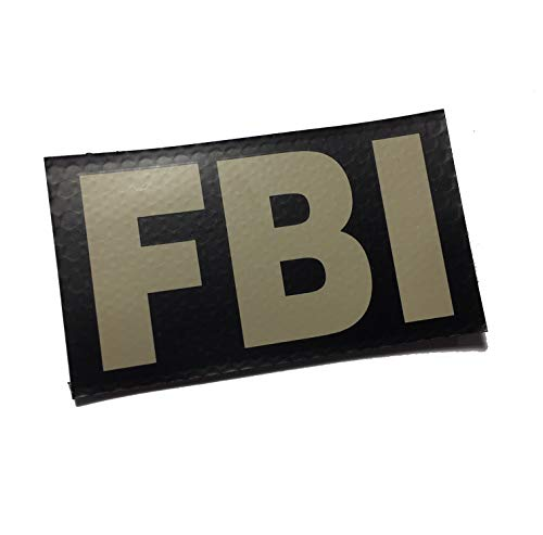 Empire Tactical USA FBI tan on Black 3.5x2 Inch Infrared IR Reflective Us Flag Patch