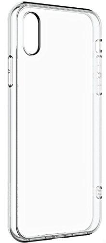COVERbasics SOFTCASE per Apple iPhone X iPhone 10 con Bordo Anteriore Salvaschermo Cover Custodia Bumper Morbida TRASPARENTE Crystal Clear HD TPU Silicone Gel Gomma Robusta Solida Antiurto