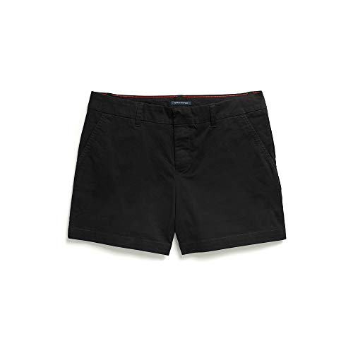 Tommy Hilfiger Women's Adaptive Stretch Shorts with Velcro Brand Closure and Magnetic Fly, The The Deep black 2