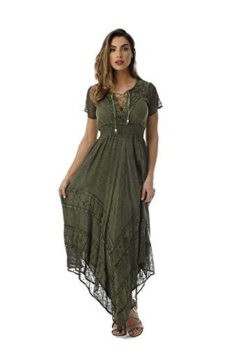 Riviera Sun 21809-OLV-1X Dress Dresses for Women Olive