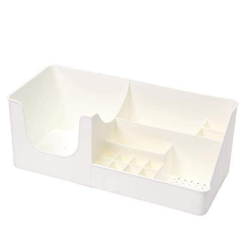 Cosmetische opbergdoos, desktop afwerking doos, cosmetische plank, multi-functionele opbergbox, for make-up huidverzorgingsproducten rek kaptafel wit LOLDF1