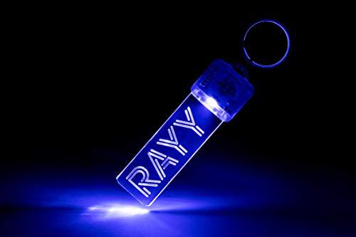 Preisvergleich Produktbild RAYY - Keychain / LED-Schlüsselanhänger mit individueller Gravur (Blau) / Keyfinder / Personalisiert