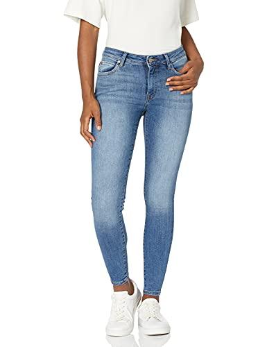 Marca Amazon - Venice Pantalón vaquero pitillo tobillero de talle medio para Mujer por The Drop