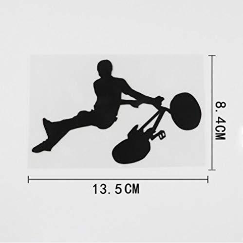 GenericBrands 4 Piezas Etiqueta engomada del Coche 13,5 cm x 8,4 cm Truco Salto Deportes calcomanía Vinilo Coche Pegatina Negro