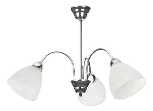 Lampex 119/3Wezuwio 3lampadario, metallo, bianco, E27