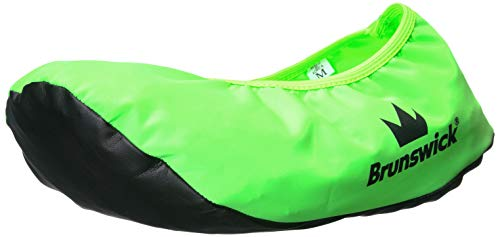 Brunswick Bowling Products Shoe Shield Shoe Covers- Neon L/XL, Green, Large/X-Large