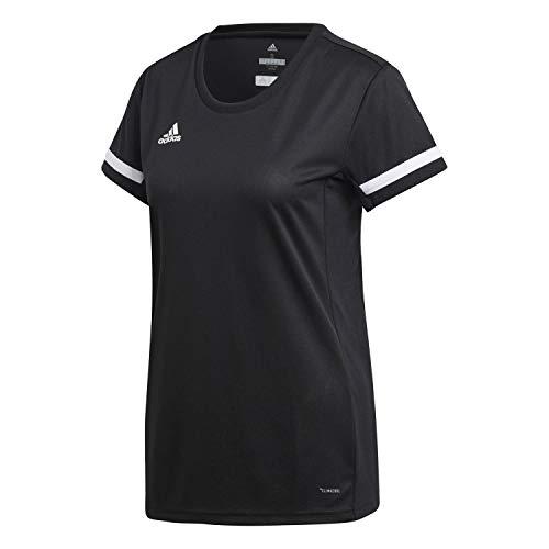 adidas Team 19, Maglia Maniche Corte Donna, Nero Bianco, M
