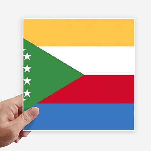 DIYthinker Comores Drapeau National Afrique Country Square Autocollants 20CM Mur Valise pour Ordinateur Portable Motobike Decal 4Pcs 20Cm X 20Cm Multicolor