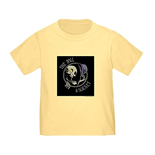 CafePress Corpse Bride Ball and Socket Pub Toddler T Shirt Cute Toddler T-Shirt, 100% Cotton Daffodil Yellow