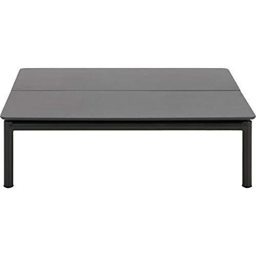 Meubletmoi Table Basse carrée de Jardin Gris Aluminium - Design Contemporain mobilier terrasse - Summer 1615