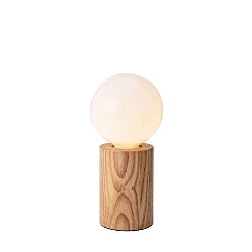 YNHNI Mesita de luz de la lámpara Mini Mesa de Estudio Dormitorio de la lámpara de cabecera de la lámpara Simple lámpara de Mesa contemporáneo Dormitorio de la lámpara,Pequeña (Color : Natural)
