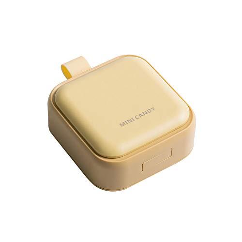 Pastillero 1PCS Pill Case Cuatro Grid Compartment Travel Pill Box Organizador Tablet dispensador Organizador Pill Box splitters Organizer Yellow