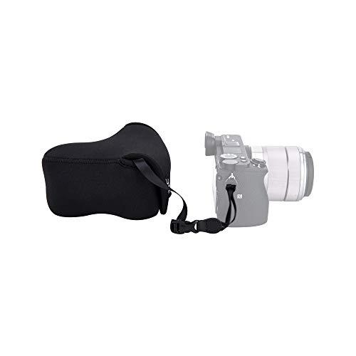 "JJC Ultra-Light Neoprene Camera Case Pouch for Sony A6600 A6500 A6400 A6300 A6100 A6000 A5100 A5000 + E 18-55mm/10-18mm/50mm Lens And Other Camera & Lens Below 4.7 x 2.9 x 5.1""(W x H x D)"