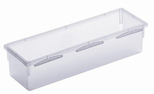 Rotho Basic Ordnungssystem, Kunststoff (PP), transparent, (23 x 8 x 5 cm)