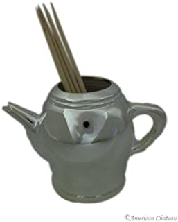 Silver Plated Silverplated Teapot Tea Pot Holders Toothpick Holder