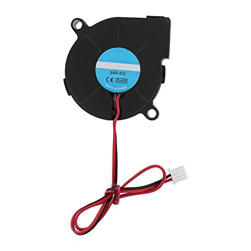 Zunate Ventilador de enfriamiento, 5015 DC 12V / 24V 7000RPM Ventilador Turbo Ventilador de enfriamiento para Accesorios de Bricolaje de Impresora 3D, 50 x 50 mm(24v)
