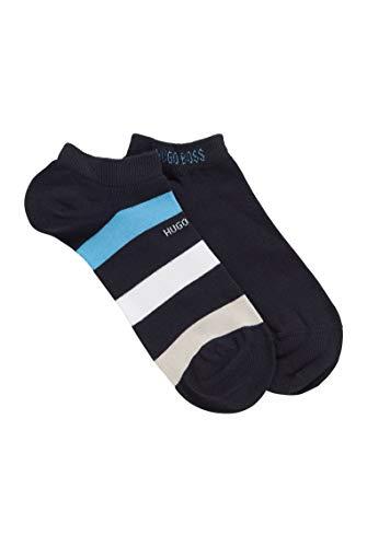 BOSS Herren 2P AS Stripe CC Zweier-Pack Sneakers-Socken aus gekämmtem Baumwoll-Mix mit Elasthan