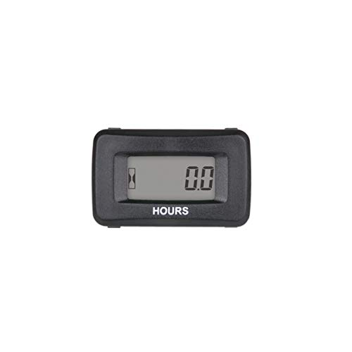 Black Runleader Digital Hour Meter Tachometer,Maintenance Reminder,Initial Time Setting,Display Shutdown,Battery Replaceable for Riding Lawn Mower Generator Chainsaws Marine Snowblower Compressor
