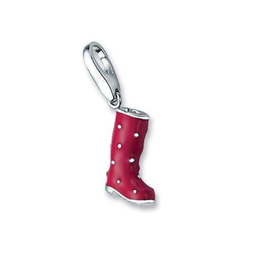 Giorgio Martello Milano Damen-Anhänger Silber Gummistiefel rot 820-812069