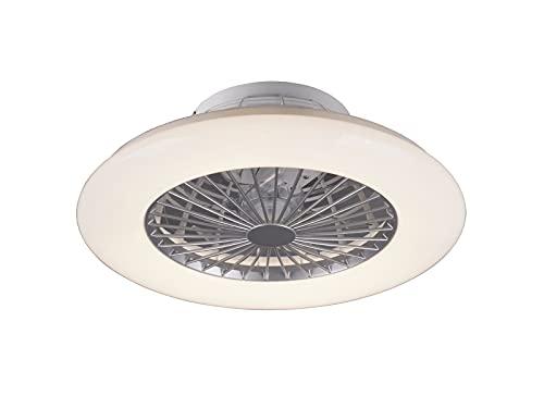 Ventilador Techo con Luz y Mando a Distancia Iluminacion Led Velocidad del Viento Regulable Control Remoto Moderna Innovativa 5 Anos Garantida