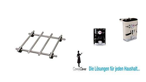 Conny Clever IKEA Topfuntersetzer Lämplig Pfannenuntersetzer aus Edelstahl - mit Gummi-Füßen - 18 x 18 cm Aromadose Kaffeedose 500gr. schwarz