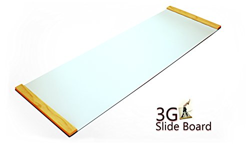 3G Ultimate Slide Board with Nano Buffed Surface (White, Premium Thick 6Ft)