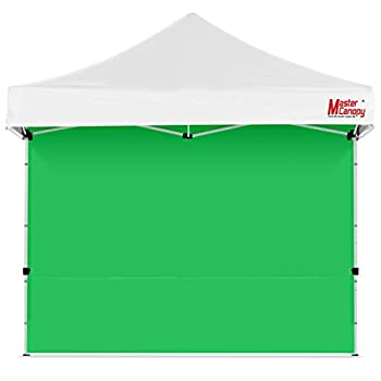 MASTERCANOPY Instant Canopy Tent Sidewall for 10x10 Pop Up Canopy 1 Pack  10 x10  Green