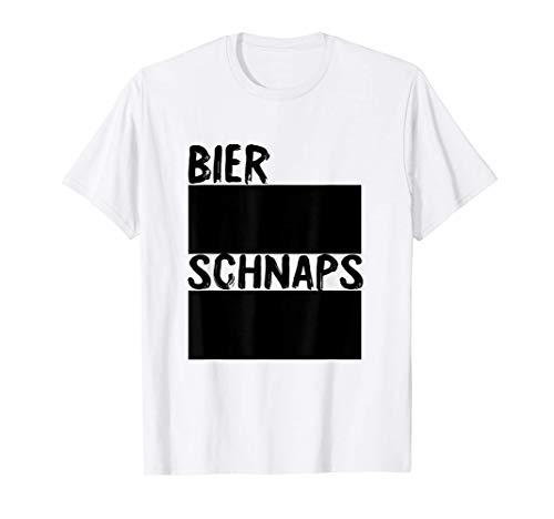 Bier Und Schnaps Strichliste Mit Kreide Beschreibbar T-Shirt