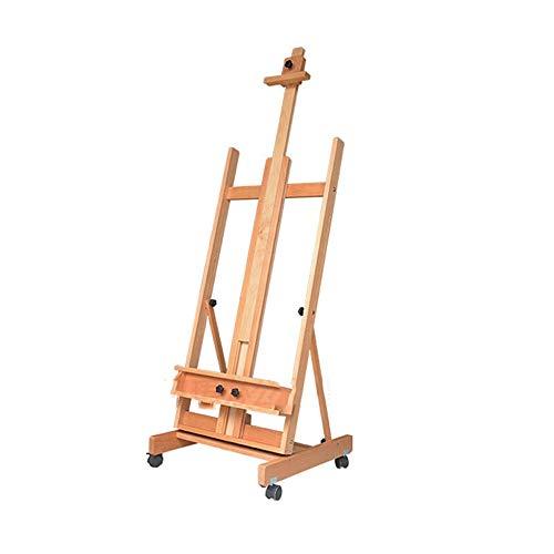 LSJTY Staffelei, Stand-hölzernes Öl Staffelei aus Holz Immobilien Werbung anzeigen Holz Regal Studio Teaching Box Skizze
