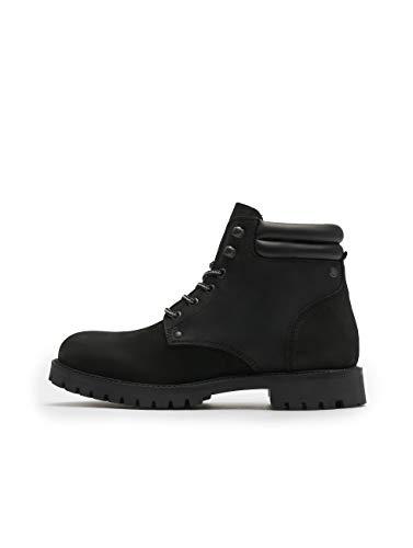 JACK & JONES Herren JFWSTOKE Nubuck Boot Mono NOOS Stiefelette, Schwarz (Black Black), 45 EU