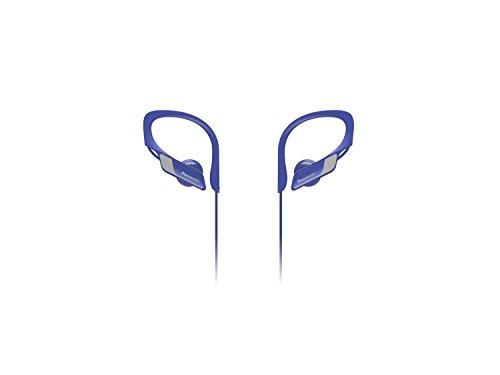 Panasonic Wings RP-BTS10E-A - Auriculares Bluetooth Deportivos (Impermeables, Uso cómodo y ultraligero, Batería duradera, Cancelación de Ruido, Carga rápida, Deporte para Iphone y Android), Color Azul