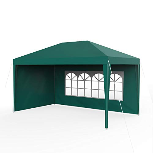 Sekey 3 x 4 m Gazebo Impermeabile con pareti Laterali/Gambe Regolabili, per Giardino/Festa/Matrimonio/Picnic, UV30 +,Verde