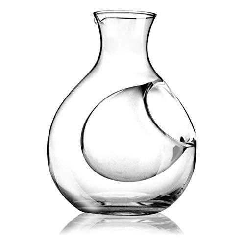 Decantador de vino de cristal hecho a mano, Decantador de vino Free Crystal Glass Decanter Separation Separación de hielo Jarra de hielo Sake de estilo japonés Hogar (Color: Photo Color, Tamaño: 25x25