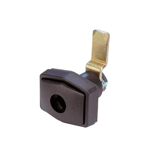 Brunner 215/202-1 - Cerradura para Puertas de autocaravanas, Color Negro