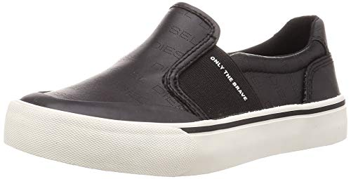 Diesel 355 S-FLIP SO W-Shoes Sneaker, Black, 8 M US