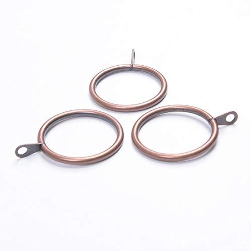 Miya@ hoogwaardige 10 stuks metalen gordijn clip ringen gordijnringen gordijn hangende ringen 38 mm binnendiameter rood_koper