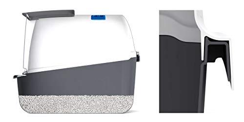 Catit 50702 Katzentoilette mit Abdeckung, grau - 4