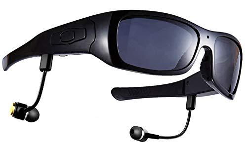 DCCN Cámara Sunglass Kaleser 1080P HD Video Sunglass Gafas Deportivas Cámara con protección UV