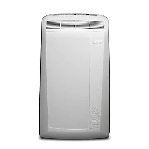 De'Longhi Pinguino PACN77ECO Climatizzatore Portatile Silenzioso, Pannello Soft Touch, Funzione deumidificatore, 2.1 kW, 62 Decibel, Plastica, Bianco