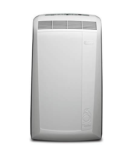 De'Longhi Pingüino PAC N77ECO Aire Acondicionado Portátil, 8200 Btu/h, 2.1 kW, Ventilador y Deshumidificador, Bajo Consumo, Función Eco Plus, Temporizador y Termostato de 12 Horas, Blanco