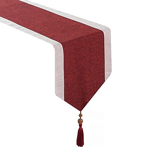 ZHHOOHAG Camino De Mesa Corredores de Mesa Moderno Paño Rectángulo Decoración de Comedor para la Oficina de la casa de la Fiesta de Boda Caminos De Mesa (Color : Red, Size : 33x228cm)