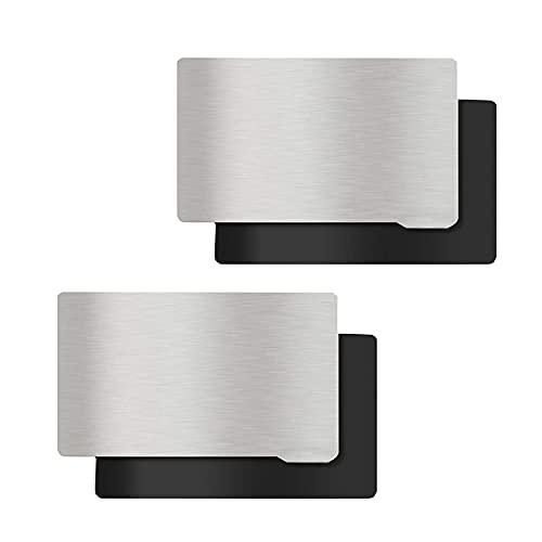 KOYOFEI 2 Stück Resin 3D Drucker Plattform, Bauplatte und Magnetblech, Flexibles Stahlplatten Flexbett für ELEGOO Mars 2 Pro/Mars 2 Mono 3D Drucker 140 x 84 mm
