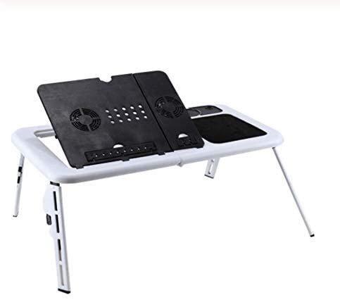Syxfckc Portátil plegable portátil ajustable escritorio de la computadora bandeja de soporte de mesa cama TV mesa plegable con un ordenador portátil un ordenador portátil puede ser un ratón con ventil