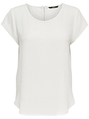 ONLY Damen T-Shirt Onlvic S/S Solid Top Noos Wvn , Weiß (Cloud Dancer Cloud Dancer) , 38