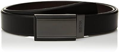 Kenneth Cole REACTION Men's Reversible Buckle Belt, black/brown plaque, 32