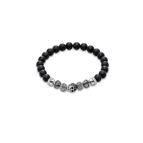 Thomas Sabo Herren-Statement-Armbänder 925 Sterling Silber Glas A1099-159-11-L