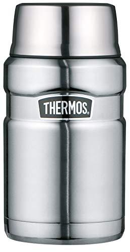 THERMOS Thermobehälter für Essen groß Lunchpot Stainless King, Thermogefäß Edelstahl mattiert 710ml, Speisegefäß für Essen, Suppen, Müsli, 4001.205.071, dicht, 14 Stunden heiß, 24 Stunden kalt