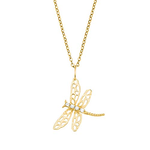 Amor Women's Necklace with Dragonfly Pendant